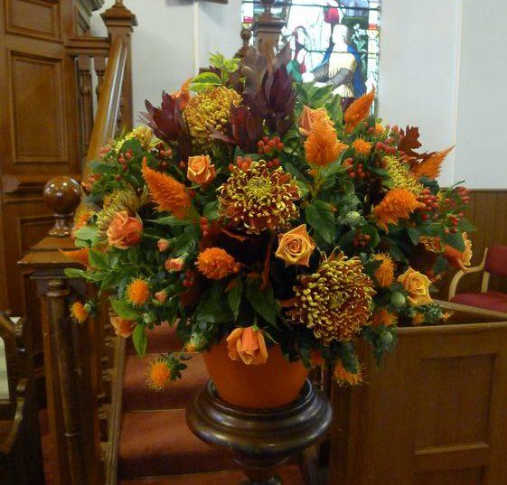 All round flower arrangement