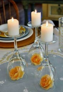 Simple DIY bridal shower centerpieces