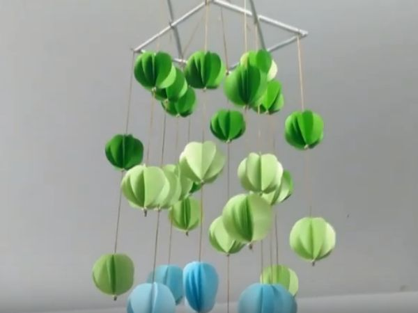 DIY Paper Flowers Hanging Decoration