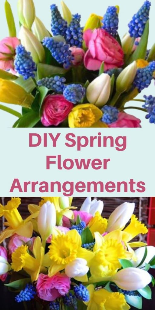 DIY Spring Flower Arrangements