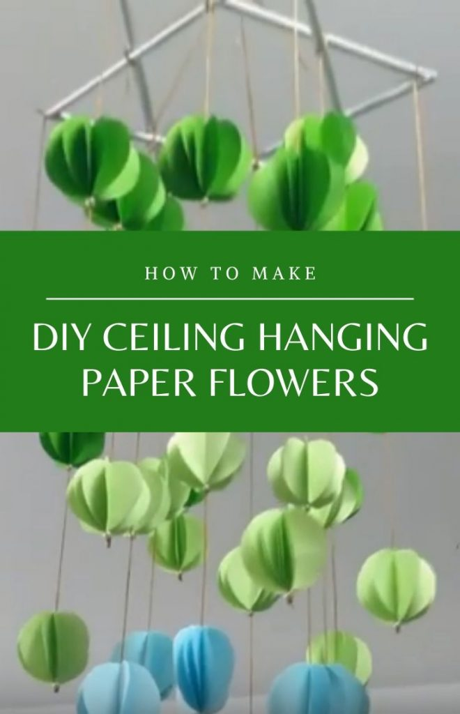 How to make DIY ceiling hanging paper flowers for decoration