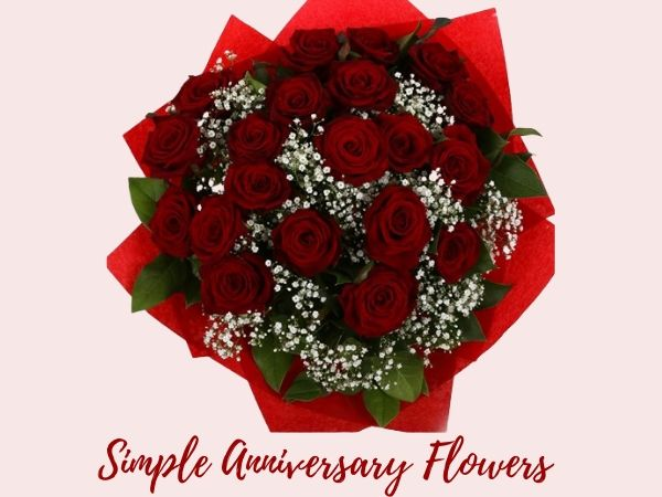simple roses anniversary flowers