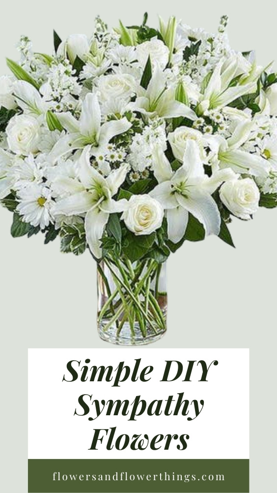 Simple DIY sympathy flowers arrangements