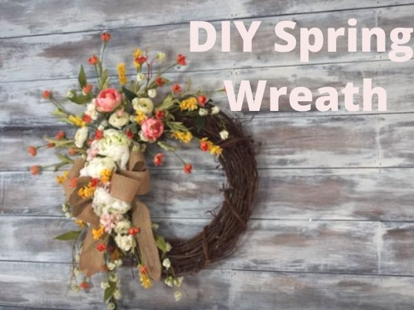 Spring Wreath Front Door DIY