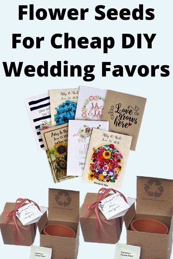 Flower Seeds For Cheap DIY Wedding Favors on a budget