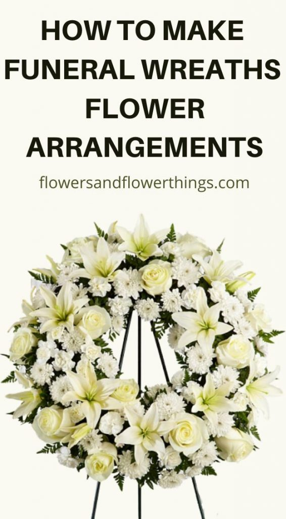 How To Make Funeral Wreaths Flowers Arrangements