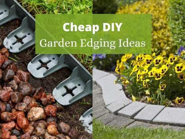 Cheap DIY garden edging ideas